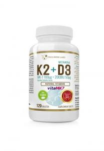 Witamina K2 vitaMK7 z natto 100mcg + D3 2000IU 50mcg 120tab. Progress Labs