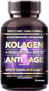 Intenson Kolagen tabletki + hialuron + wit C ANTI-AGE 500 mg 90tab.