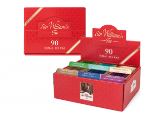 PREZENTER Z HERBATAMI SIR WILLIAM'S TEA 90 szt. ZESTAW