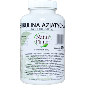 NATUR PLANET Spirulina 500 tabletek 250mg