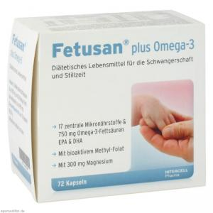 Fetusan plus Omega-3 Intercell 72 kapsułki