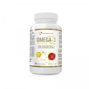 Omega 3 1000mg Forte Gold + Witamina E 90 kaps. Progress Labs
