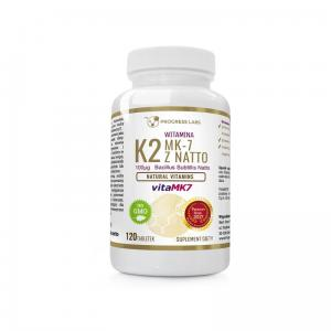 Witamina K2 vitaMK7 z natto 100mcg 120 tabletek Progress Labs