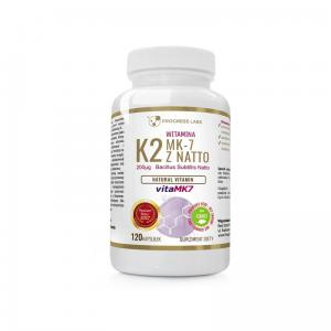 Witamina K2 vitaMK7 z natto 200mcg 120 kapsułek Vege Progress Labs
